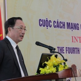Assoc. Prof. Dr. Nguyen Van Thanh, Vice Minister of Public Security Ministry giving a speech at the seminar
