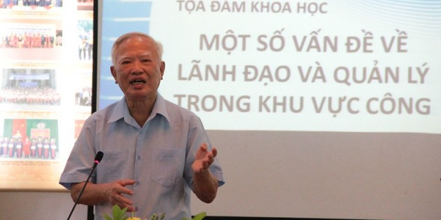 Mr. Vu Khoan shares his thought on issues related to leadership and management in public management