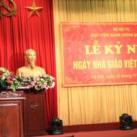 Mr. Le Vinh Tan, Minister of Home Affairs delivers a speech in the ceremony