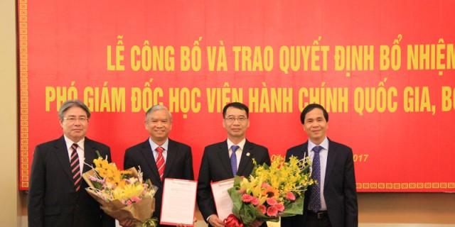 Mr. Trieu Van Cuong congratulates the two new NAPA Vice President