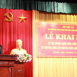 Dr. Dang Xuan Hoan, NAPA President giving a speech in the ceremony