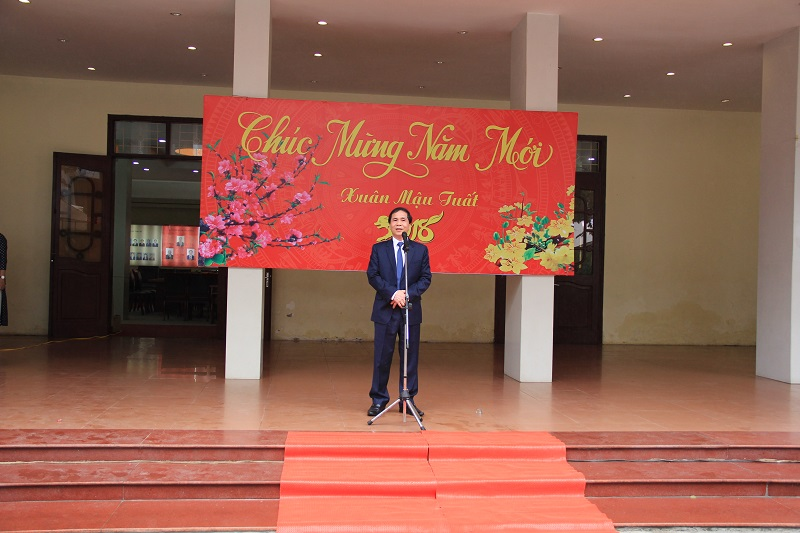 Vice Minister Trieu Van Cuong delivers a speech in the ceremony