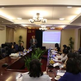 Dr. Harri Laihonen presented in the reception