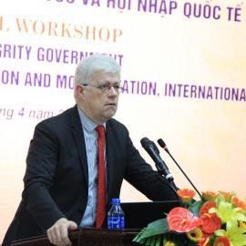 Mr. Jean Francois Verdier, ... delivers a presentation in the seminar