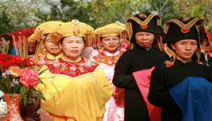 An image in a special festival in Vietnam