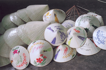 A conical hat of Vietnamese people