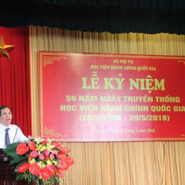 Assoc. Prof. Dr. Trieu Van Cuong, Vice Minister of Home Affairs giving a speech in the ceremony