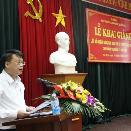 Mr. Bui Huy Tung, Chief of NAPA Office delivers a speech in the ceremony
