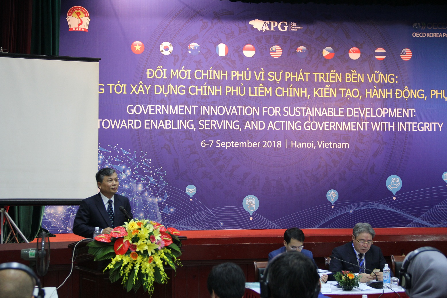 Mr. Nguyen Trong Thua, Vice Minister of Home Affairs delivers opening speech in the APG Forum