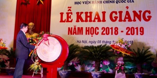 Dr. Le Vinh Tan plays the drum