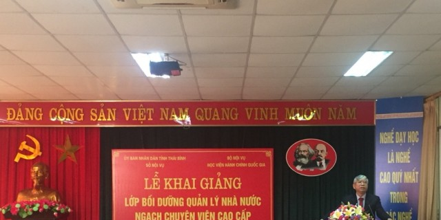 Mr. Vu Thanh Xuan, NAPA Vice President delivers a speech in the ceremony