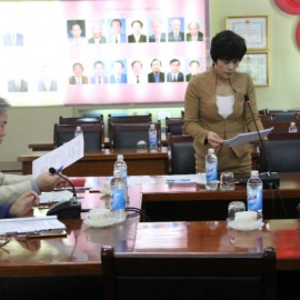 Dr. Nguyen Thi Thanh Thuy,  Facutly of ... giving a speech in the seminar