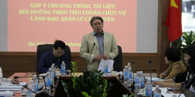 Dr. Dang Xuan Hoan, NAPA President delivers a speech in the seminar