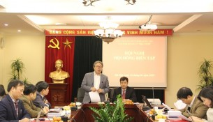 Dr. Dang Xuan Hoan, NAPA President delivers a speech at the meeting
