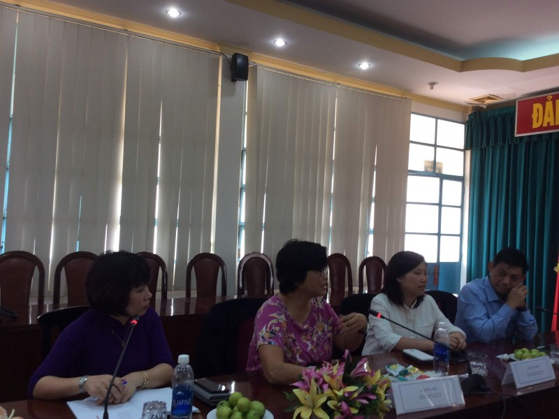 Ms. Tina Ng – Head of International Cooperation Department sharing her experience