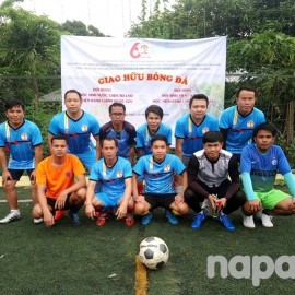Lao Student Team before the match