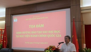 Dr. Dang Xuan Hoan, NAPA President delivering opening speech at the seminar