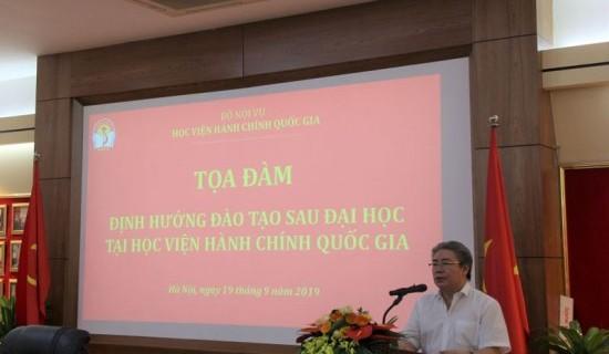 Dr. Dang Xuan Hoan, NAPA President delivering opening speech at the seminar