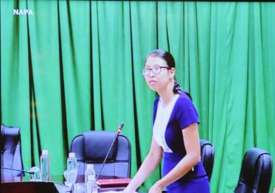 Ms. Mai Thi Phuong Dung speaking at the seminar