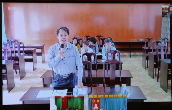 Video conference from NAPA branch campus in Tay Nguyen