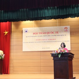 Ms. Nguyen Thi Thu Cuc, Department of International Cooperation, NAPA introducing the workshop agenda and delegates