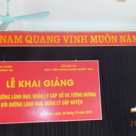Dr. Ngo Van Tran, Deputy General Director of NAPA Campus  in Hue City, Head of Hue Examination Board delivering the opening speech