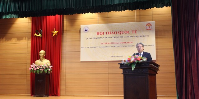 Dr. Dang Xuan Hoan, NAPA President, delivering opening speech at the workshop