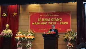 Dr Dang Xuan Hoan – NAPA President announcing the opening ceremony of the academic year 2019 – 2020