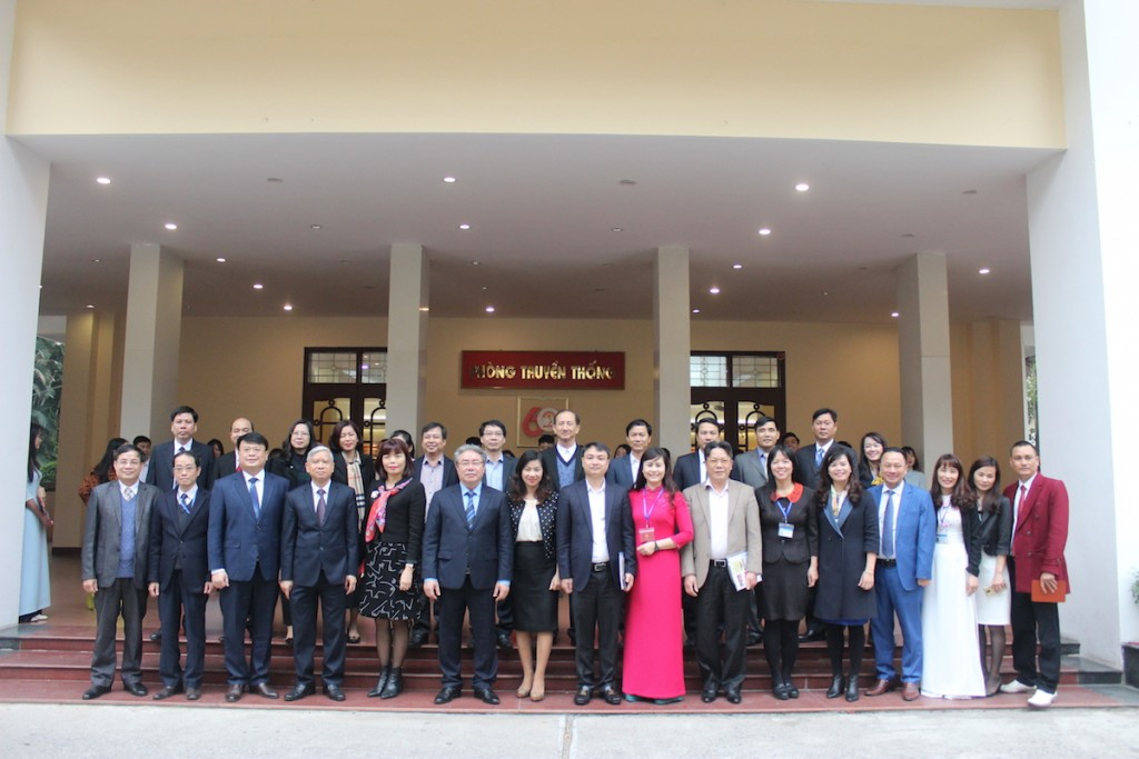 NAPA staff and representatives of ministries taking photos in the opening of the academic year of 2019 – 2020.