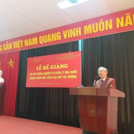 Dr. Vu Thanh Xuan, NAPA Vice President, delivering a speech