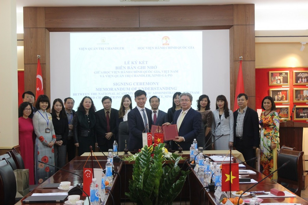 NAPA leaders and officials and Singaporean partners at the Signing Ceremony