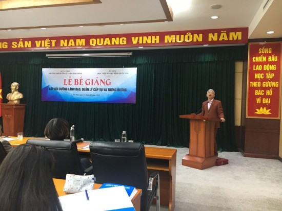 Dr. Vu Thanh Xuan - NAPAVice President delivering the closing speech