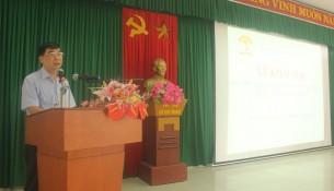 Dr. Ngo Van Tran, Deputy General Director of NAPA Campus  in Hue City, Head of Hue Examination Board delivering the opening speech