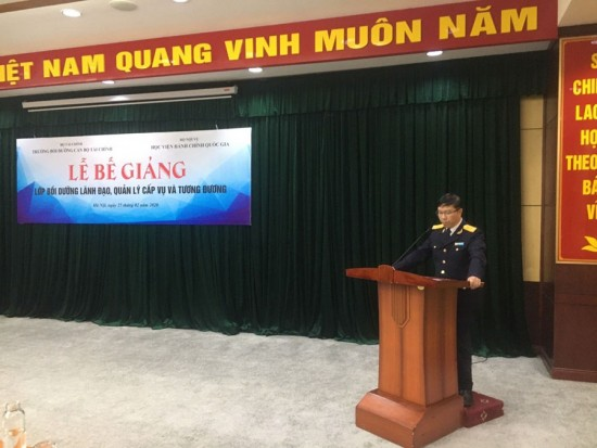 Mr. Luu Manh Tuong – Deputy Director General addressing at the ceremony
