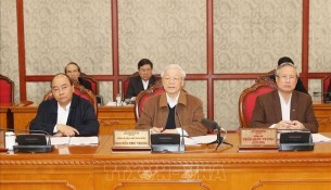 The Party General Secretary, President Nguyen Phu Trong delivered a speech at the meeting. Source: TTXVN
