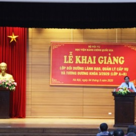 Assoc.Prof.Dr. Trieu Van Cuong, Vice Minister of Home Affairs speaking at the event.