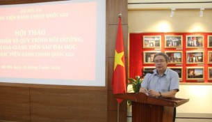 Dr. Dang Xuan Hoan - NAPA President speaking at the workshop