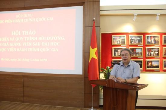 Dr. Dang Xuan Hoan - NAPA President speaking at the workshop