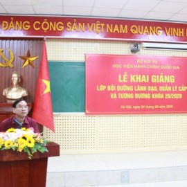 Dr. Vu Thanh Xuan, NAPA Vice President speaking at the ceremony