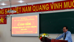 Dr. Ha Quang Thanh – Permanent Deputy Director General, NAPA Branch Campus in Ho Chi Minh city speaking at the event