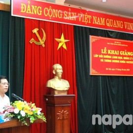 Mr. Ta Ngoc Don delivered a speech at the opening ceremony