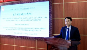 Dr. Thieu Huy Thuat, Deputy Director General, NAPA Branch Campus in Tay Nguyen speaking at the event