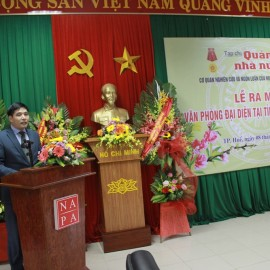 Assoc.Prof.Dr. Nguyen Hoang Hien, Deputy Director General, NAPA Branch Campus in Hue City speaking at the event