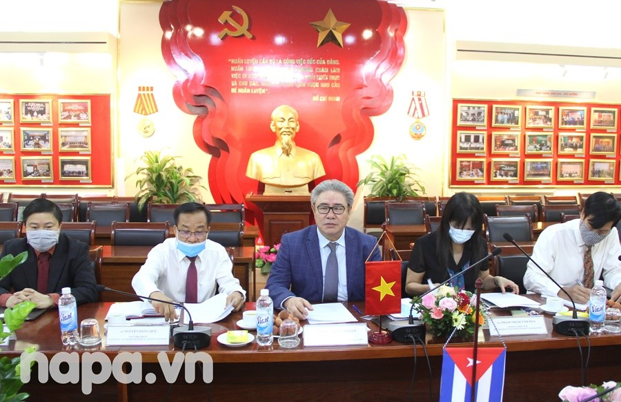 Dr. Dang Xuan Hoan delivered a speech at the meeting