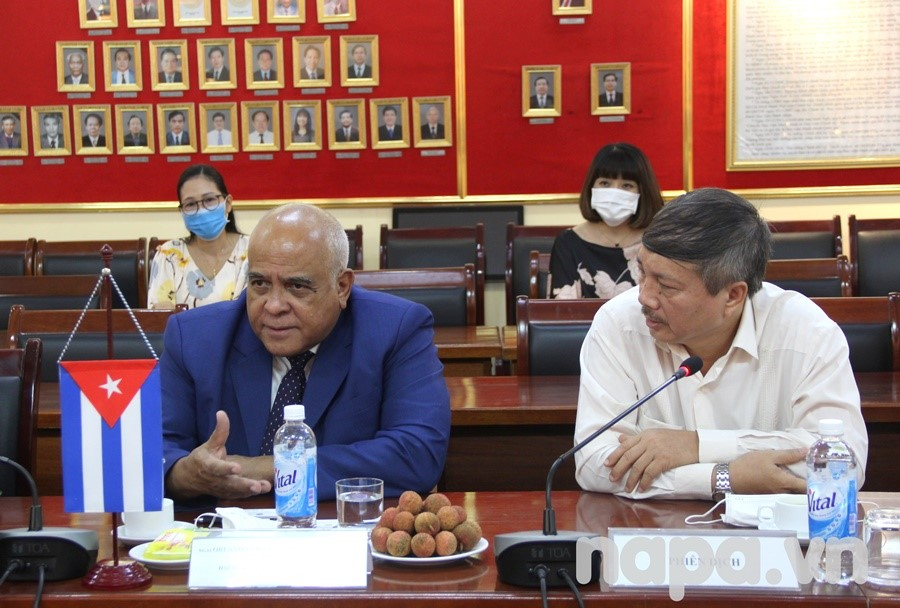 H.E. Mr. Orlando Nicolas Hernandez Guilen delivered a speech at the meeting