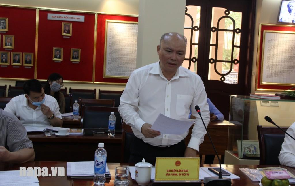 Mr. Vu Dang Minh, Chief of Office, MOHA.
