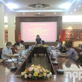Assoc. Prof. Dr. Nguyen Thi Hong Hai chairing the Doctoral Dissertation Assessment Council