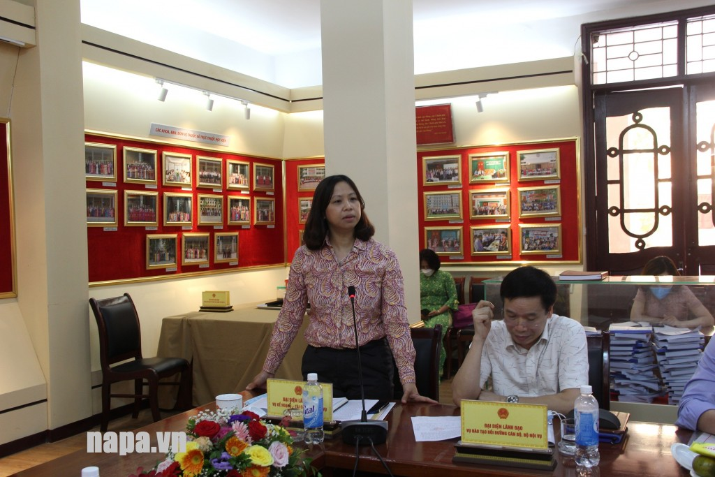 Ms. Nguyen Bich Thuy, Director, Department of Planning and Finance, MOHA