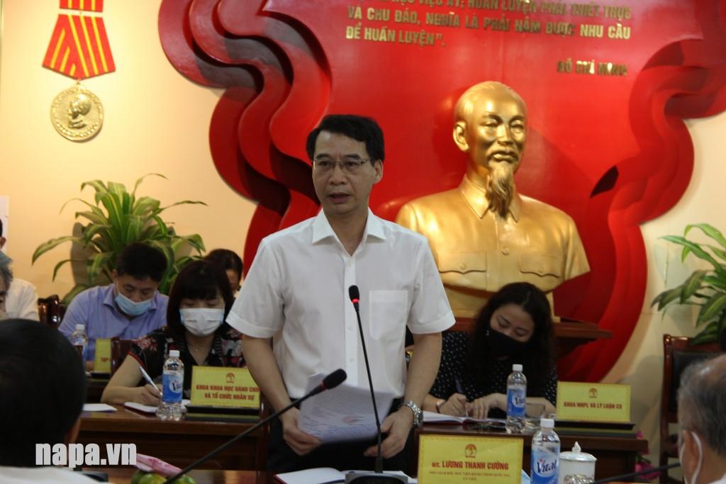 Assoc. Prof. Dr. Luong Thanh Cuong, NAPA Vice President.