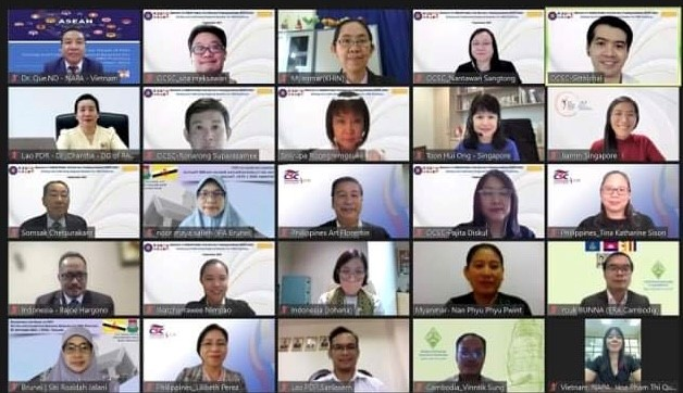 Participants of the virtual Roundtable for Heads of ASEAN PSTI